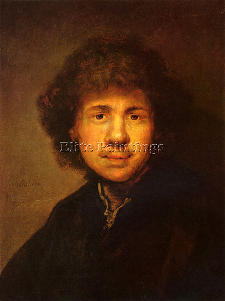 REMBRANDT SELF PORTRAIT ARTIST PAINTING REPRODUCTION HANDMADE CANVAS REPRO WALL