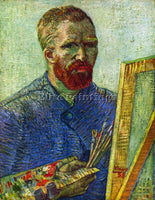 VAN GOGH SELF PORTRAIT IN FRONT EASEL ARTIST PAINTING REPRODUCTION HANDMADE OIL