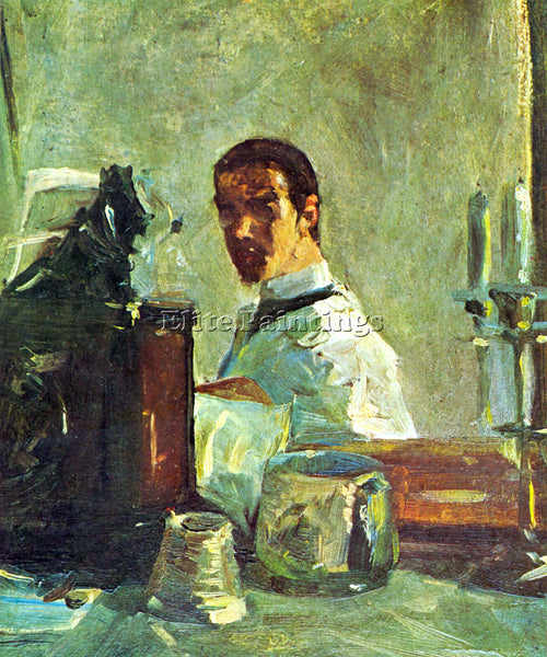 TOULOUSE-LAUTREC SELF PORTRAI LOOKING IN A MIRROR ARTIST PAINTING REPRODUCTION