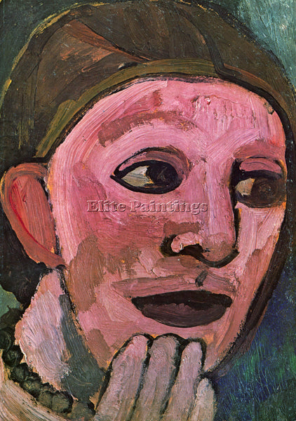 PAULA MODERSOHN-BECKER SELF PORTRAIN ARTIST PAINTING REPRODUCTION HANDMADE OIL