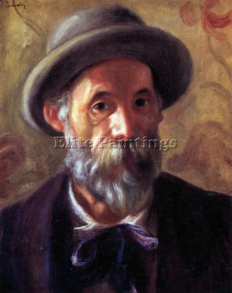 RENOIR SELF PORTRAIT 1 ARTIST PAINTING REPRODUCTION HANDMADE CANVAS REPRO WALL