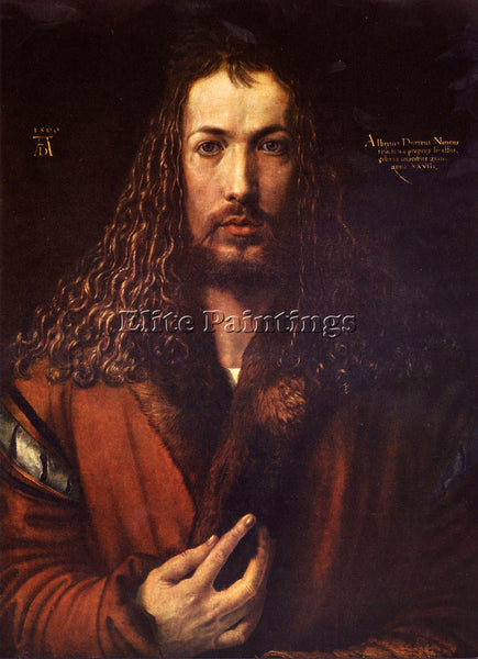 DURER SELF PORTRAIT 2 ARTIST PAINTING REPRODUCTION HANDMADE OIL CANVAS REPRO ART