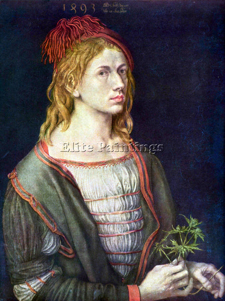 DURER SELF PORTRAIT 3 ARTIST PAINTING REPRODUCTION HANDMADE OIL CANVAS REPRO ART