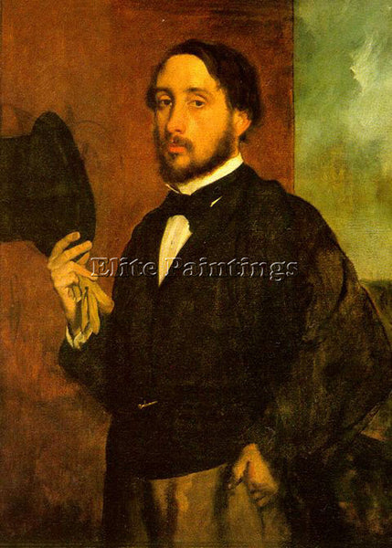 EDGAR DEGAS SELF PORTRAIT ARTIST PAINTING REPRODUCTION HANDMADE OIL CANVAS REPRO