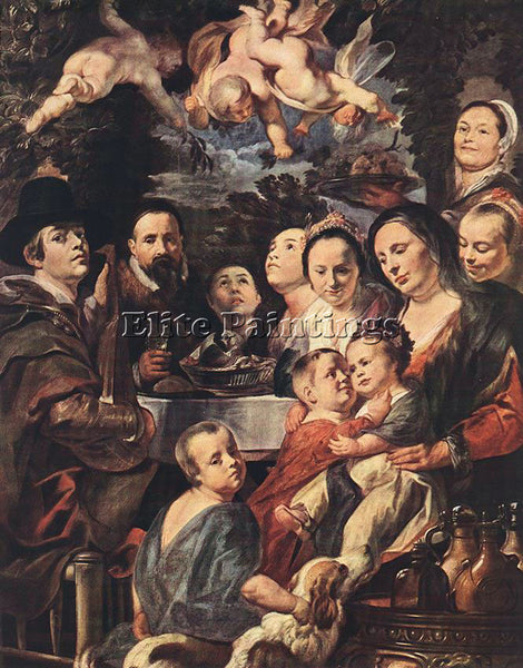 JACOB JORDAENS SELF PORTRAIT AMONG PARENTS BROTHERS AND SISTERS ARTIST PAINTING