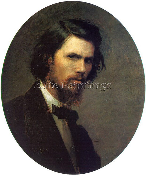 IVAN NIKOLAEVICH KRAMSKOY SELF PORTRAIT ARTIST PAINTING REPRODUCTION HANDMADE