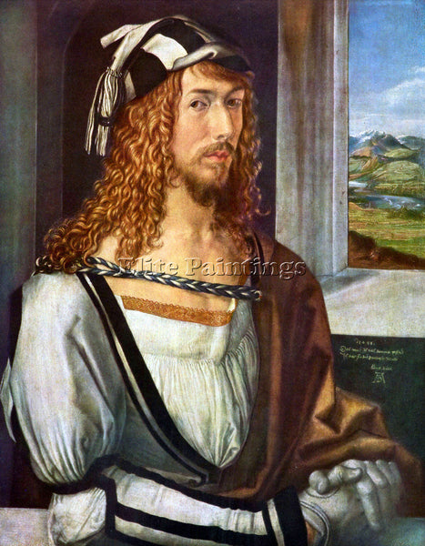 DURER SELF PORTRAIT ARTIST PAINTING REPRODUCTION HANDMADE CANVAS REPRO WALL DECO