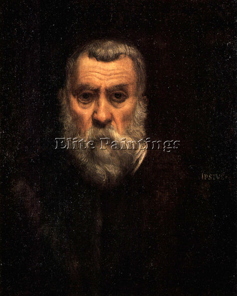 TINTORETTO SELF PORTRAIT ARTIST PAINTING REPRODUCTION HANDMADE CANVAS REPRO WALL