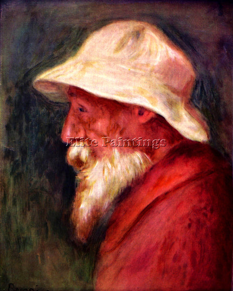RENOIR SELFPORTRAIT WITH WHITE HAT ARTIST PAINTING REPRODUCTION HANDMADE OIL ART