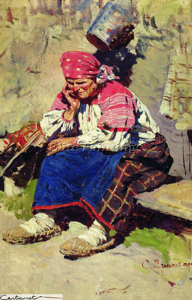 RUSSIAN SERGEI ARSENEVICH VINOGRADOV WOMEN ARTIST PAINTING REPRODUCTION HANDMADE