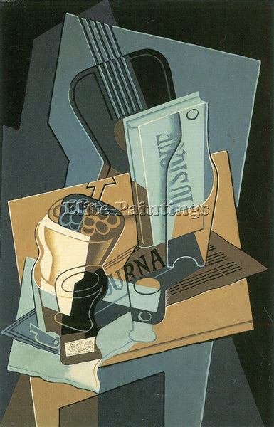 JUAN GRIS SHEET OF MUSIC ARTIST PAINTING REPRODUCTION HANDMADE CANVAS REPRO WALL