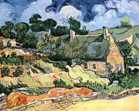 VAN GOGH SHELTERS IN CORDEVILLE 2 ARTIST PAINTING REPRODUCTION HANDMADE OIL DECO