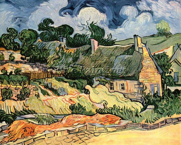 VAN GOGH SHELTERS IN CORDEVILLE ARTIST PAINTING REPRODUCTION HANDMADE OIL CANVAS
