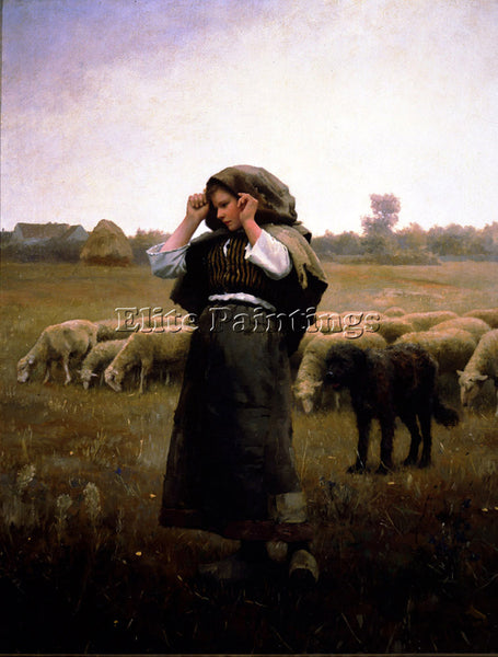 DANIEL RIDGWAY KNIGHT SHEPARDESS AND HER FLOCK ARTIST PAINTING REPRODUCTION OIL