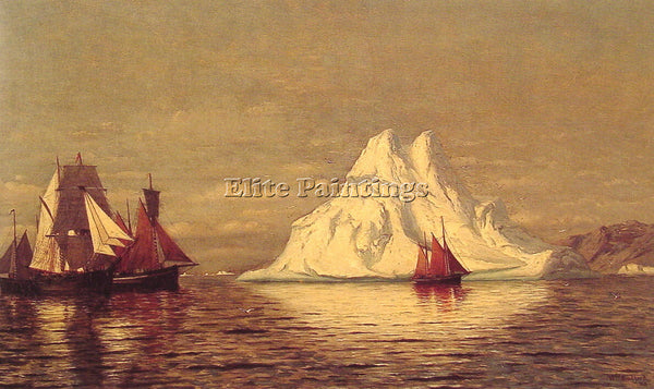 WILLIAM BRADFORD SHIPS AND ICEBERG ARTIST PAINTING REPRODUCTION HANDMADE OIL ART