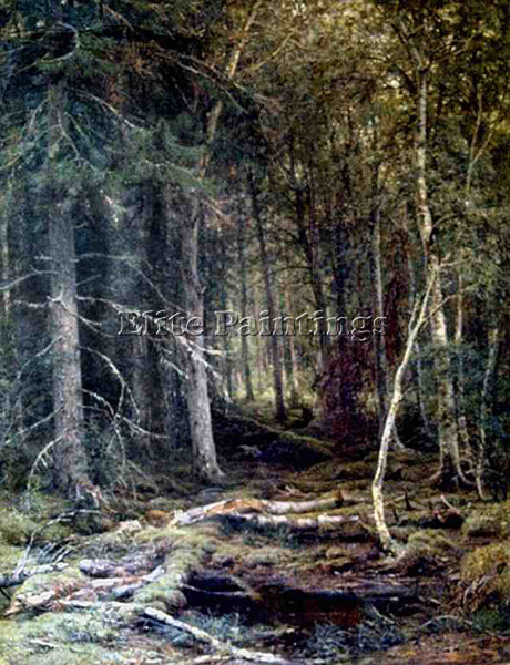 IVAN SHISHKIN FOREST C 1860 ARTIST PAINTING REPRODUCTION HANDMADE OIL CANVAS ART