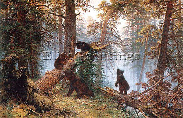 IVAN SHISHKIN MORNING IN THE PINE TREE FOREST 1889 ARTIST PAINTING REPRODUCTION