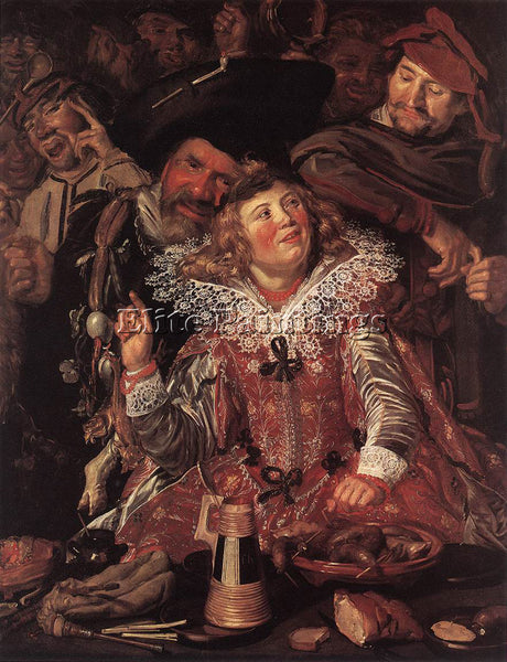 FRANS HALS SHROVETIDE REVELLERS ARTIST PAINTING REPRODUCTION HANDMADE OIL CANVAS