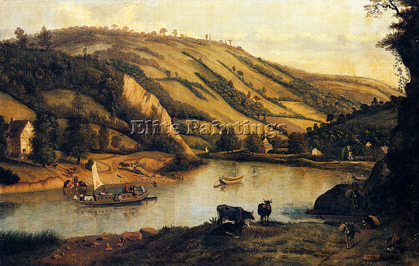 JAN SIBERECHTS AN EXTENSIVE RIVER LANDSCAPE PROBABLY DERBYSHIRE ARTIST PAINTING