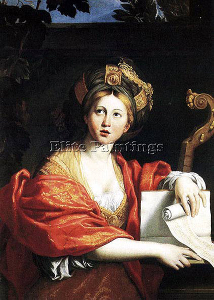 DOMENICHINO SIBYL ARTIST PAINTING REPRODUCTION HANDMADE CANVAS REPRO WALL DECO