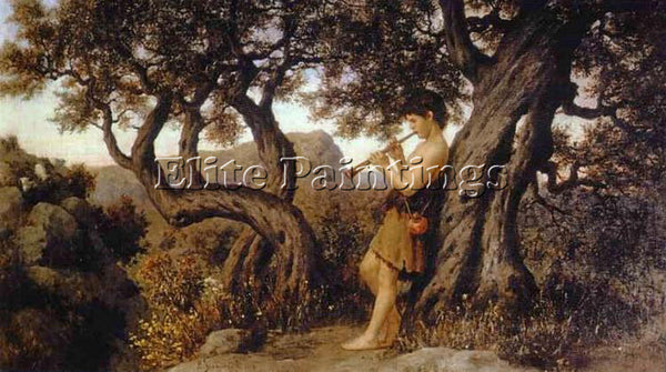 HENRYK HECTOR SIEMIRADZKI A SHEPHERD PLAYING FLUTE ARTIST PAINTING REPRODUCTION