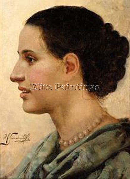 HENRYK HECTOR SIEMIRADZKI PORTRAIT OF A YOUNG WOMAN ARTIST PAINTING REPRODUCTION