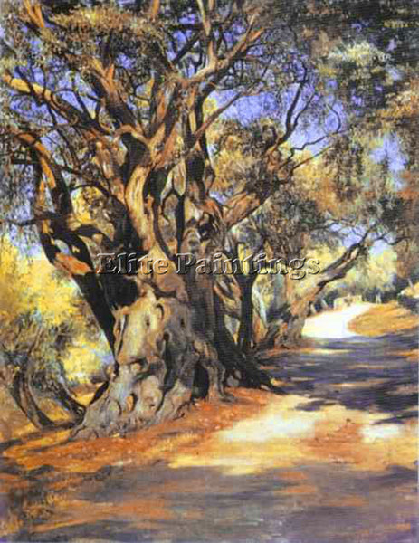 HENRYK HECTOR SIEMIRADZKI ROAD FROM ROME TO ALBANO ARTIST PAINTING REPRODUCTION