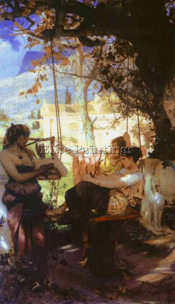 HENRYK HECTOR SIEMIRADZKI SONG OF A SLAVE GIRL ARTIST PAINTING REPRODUCTION OIL
