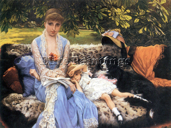 TISSOT SILENCE ARTIST PAINTING REPRODUCTION HANDMADE OIL CANVAS REPRO WALL  DECO
