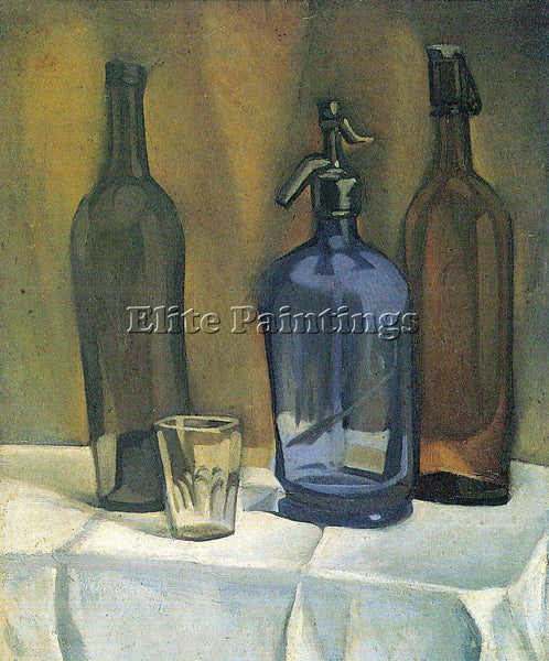 JUAN GRIS SIPHON AND BOTTLES ARTIST PAINTING REPRODUCTION HANDMADE CANVAS REPRO