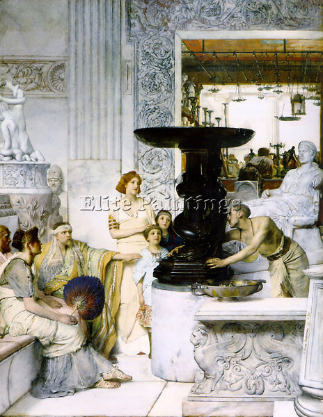 SIR LAWRENCE ALMA TADEMA THE SCULPTURE GALLERY ARTIST PAINTING REPRODUCTION OIL