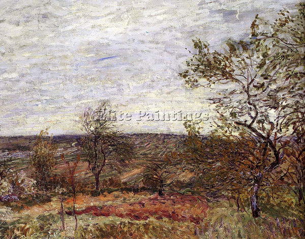 ALFRED SISLEY WINDY DAY AT VENEUX ARTIST PAINTING REPRODUCTION HANDMADE OIL DECO