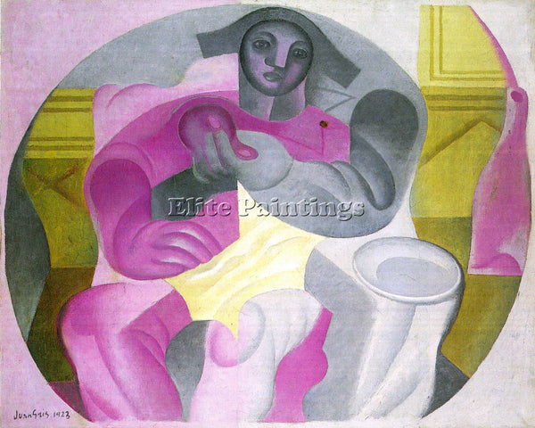 JUAN GRIS SITTING HARLEQUAN ARTIST PAINTING REPRODUCTION HANDMADE OIL CANVAS ART
