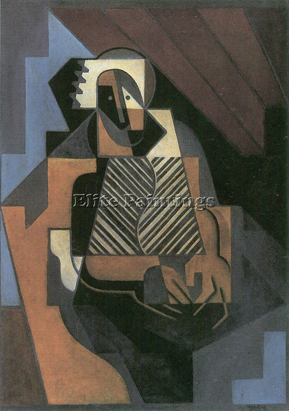JUAN GRIS SITTING PEASANT WOMAN ARTIST PAINTING REPRODUCTION HANDMADE OIL CANVAS