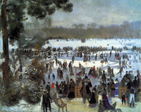 RENOIR SKATING RUNNERS IN THE BOIS DE BOLOGNE ARTIST PAINTING REPRODUCTION OIL
