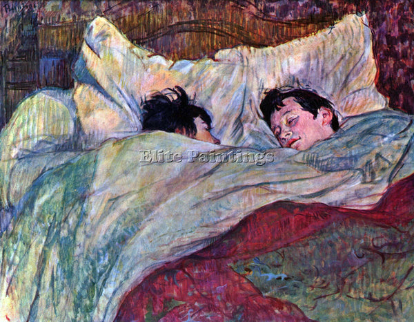 TOULOUSE-LAUTREC SLEEPING ARTIST PAINTING REPRODUCTION HANDMADE OIL CANVAS REPRO