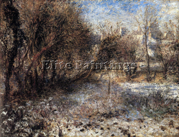 RENOIR SNOWY LANDSCAPE ARTIST PAINTING REPRODUCTION HANDMADE CANVAS REPRO WALL