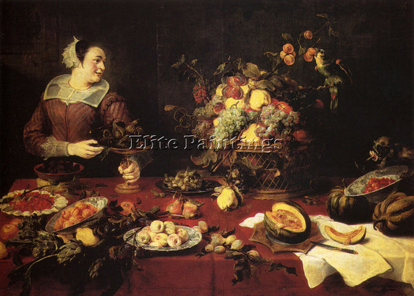 FRANS SNYDERS THE BASKET OF FRUIT ARTIST PAINTING REPRODUCTION HANDMADE OIL DECO