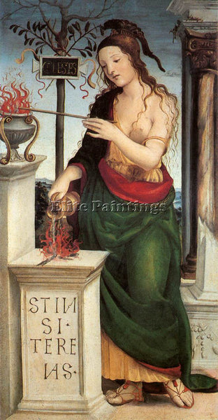 IL SODOMA ALLEGORY OF CELESTIAL LOVE ARTIST PAINTING REPRODUCTION HANDMADE OIL