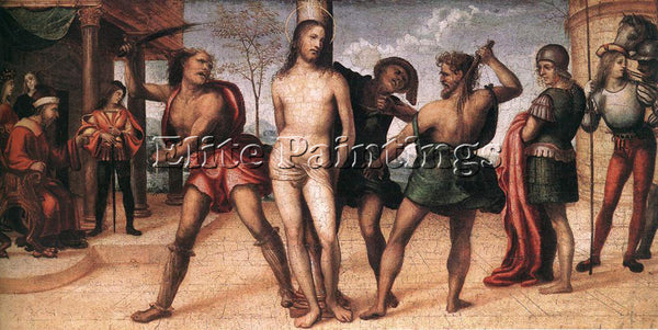 IL SODOMA FLAGELLATION OF CHRIST ARTIST PAINTING REPRODUCTION HANDMADE OIL REPRO