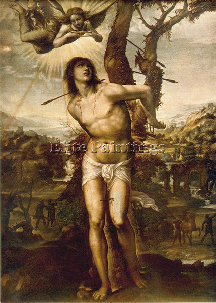 IL SODOMA ST SEBASTIAN ARTIST PAINTING REPRODUCTION HANDMADE CANVAS REPRO WALL
