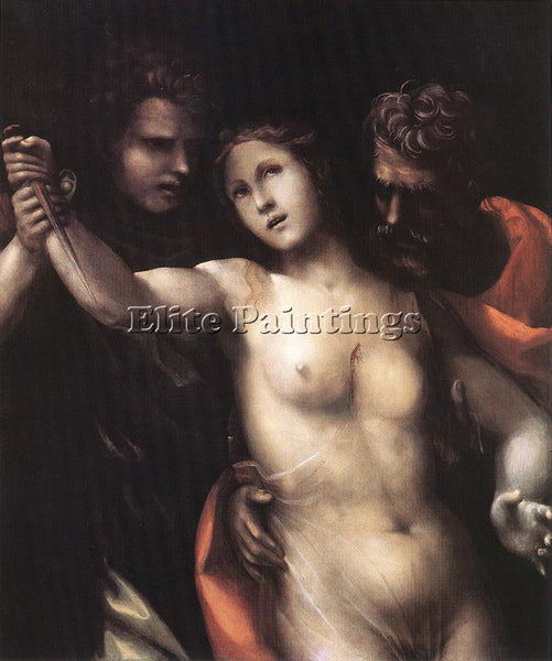 IL SODOMA THE DEATH OF LUCRETIA ARTIST PAINTING REPRODUCTION HANDMADE OIL CANVAS
