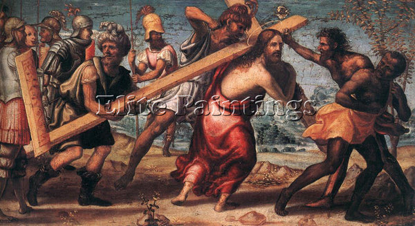 IL SODOMA THE ROAD TO CALVARY ARTIST PAINTING REPRODUCTION HANDMADE CANVAS REPRO