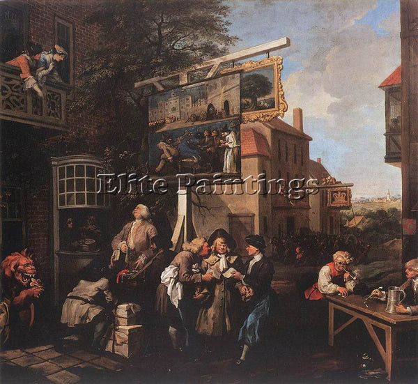 WILLIAM HOGARTH SOLICITING VOTES ARTIST PAINTING REPRODUCTION HANDMADE OIL REPRO
