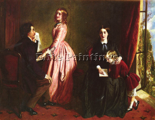 BRITISH SOLOMON REBECCA THE GOVERNESS ARTIST PAINTING REPRODUCTION HANDMADE OIL