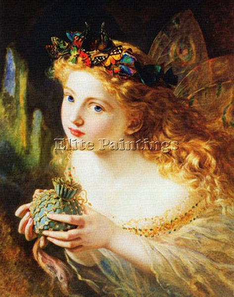 SOPHIE GENGEMBRE ANDERSON TAKE THE FAIR FACE OF WOMAN ARTIST PAINTING HANDMADE