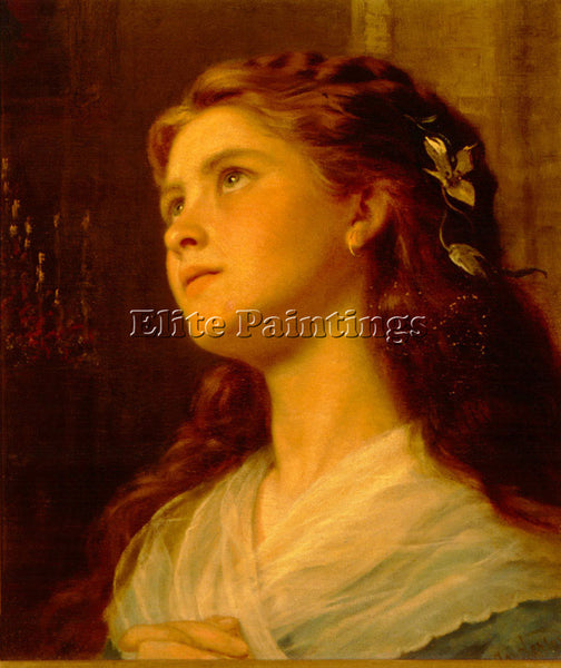 SOPHIE GENGEMBRE ANDERSON  PORTRAIT OF YOUNG GIRL LARGE ARTIST PAINTING HANDMADE