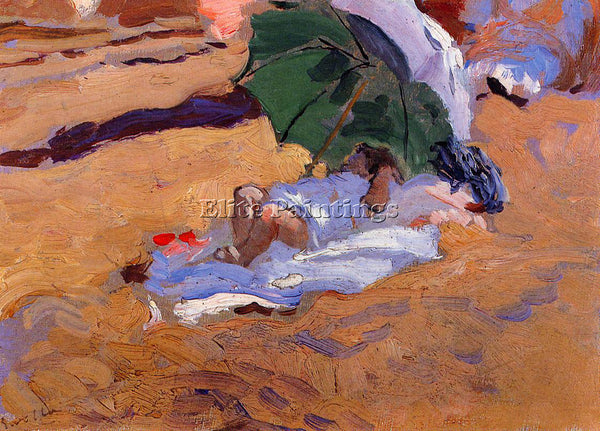 JOAQUIN SOROLLA Y BASTIDA CHILD S SIESTA ARTIST PAINTING REPRODUCTION HANDMADE