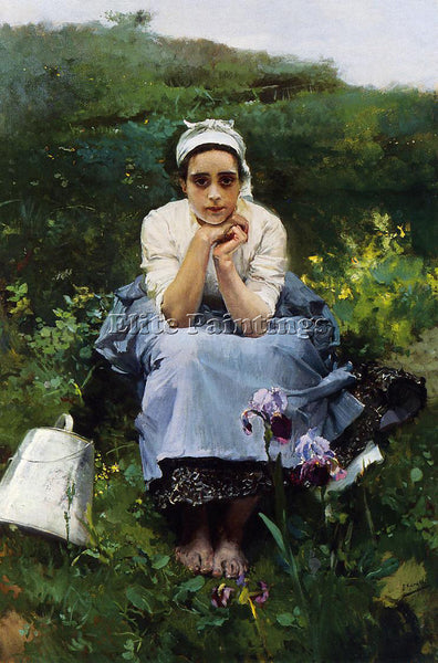 JOAQUIN SOROLLA Y BASTIDA THE MILKMAID ARTIST PAINTING REPRODUCTION HANDMADE OIL