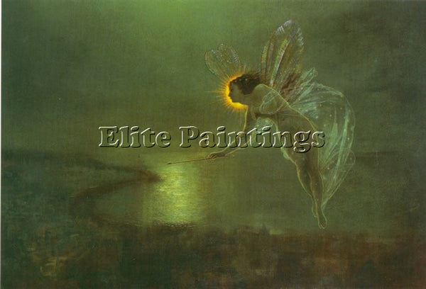 JOHN ATKINSON GRIMSHAW SPIRIT OF THE NIGHT ARTIST PAINTING REPRODUCTION HANDMADE